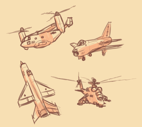 Aircraft Doodles by Malnu123
