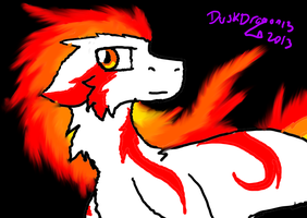Fire Hunter by DuskDragonXIII