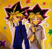Yami and Yugi by nikra