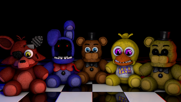 [C4D] Withered Plushies!! by GaboCOart