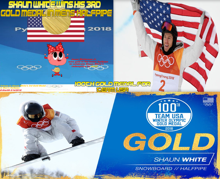 Tribute to Shaun White's 3rd Gold Medal by edalhoff345