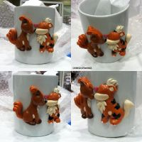 Vulpix Growlithe Mug by ChibiSilverWings