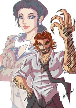 Bigby and Snow by ADL-art