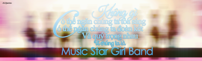 [Cover Quotes] Music Star Girl Band. by Ai-chan2003