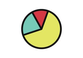 Outline Pie Chart Icon by superawesomevectors