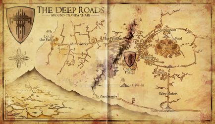 Dragon Age - Deep Road Area Map by Hapimeses