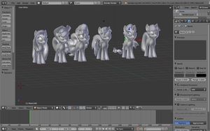 Gmod Ponies in Blender 3D by pizzalover53