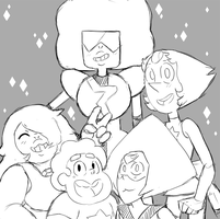 Cuties Group Picture (doodle) by AccursedAsche