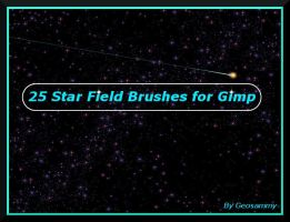 25 Star Field Brushes for Gimp by Geosammy