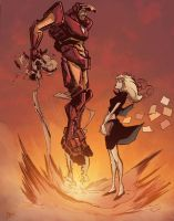Iron Man by R.Rodriguez (A) and Garbark (C) by DougGarbark