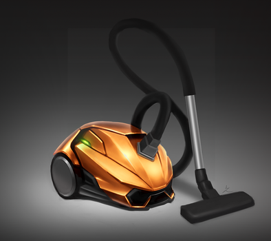 Vacuum Cleaner with Lamborghini styling by luqzai