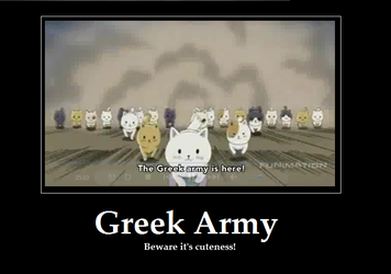 Greek Army Motivation Poster by ShadowsatDusk