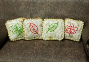 Fall Leaves Mini Throw Pillows by Kyle-Lefort