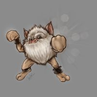 Realistic Primeape by zacharyxbinks