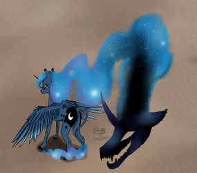 Luna's two side good and evil by moondaneka