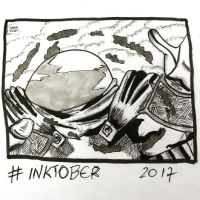 Inktober 2017, Day 15, Mysterious by maestromakhan