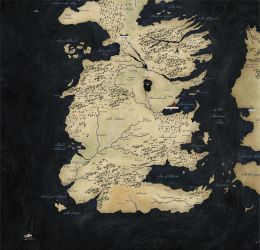 Map of South Westeros for SB.com by kclcmdr