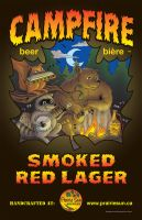 CAMPFIRE Beer Poster by Huwman