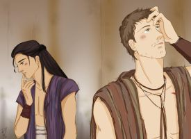 Agron and Nasir - Did I overstep...? by rumi-nyo