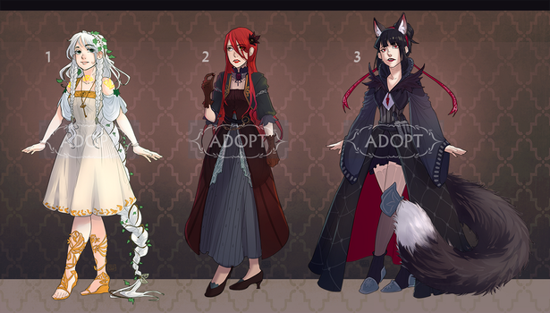 Adoptables#1 [Auction/CLOSED] by meodwarf