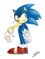 Surprised Sonic by debrodis