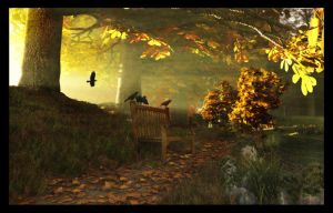 Autumn Path by struckdumb