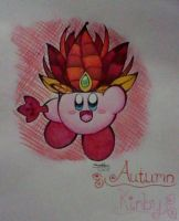 :Kirby: Autumn Kirby by Plucky-Nova
