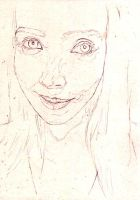 Compositional sketch of a friend. by Simon-Field