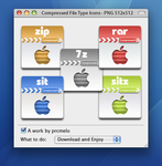 Compressed File Type Icons by prcmelo