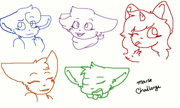 Mouse challenge p1 sketches by Taliasii