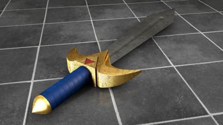 TLoZ A link to the Past Fighter's Sword Damaged by SenseiHaketon