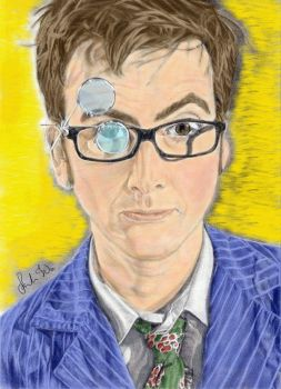 D  Tennant   The Doctor By Uwardnas by chicago-icee