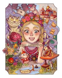 Alice in wonderland Russia by audreymolinatti