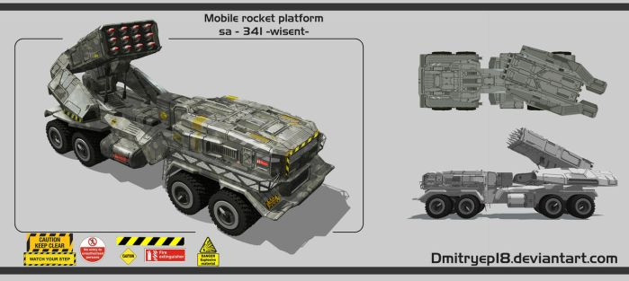Mobile rocket platform by DmitryEp18