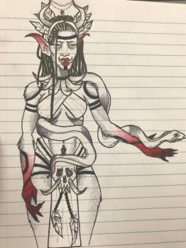 Blood Priestess Igala  by bebegallina