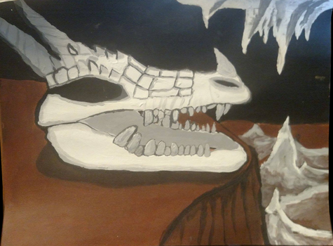 Dragon Skull by Messinground
