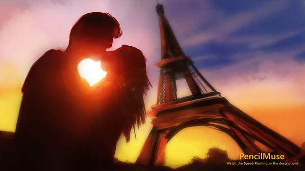 Mood Painting | Romance | Paris by PencilMuseYouTube