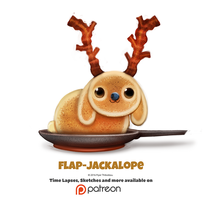 Daily 1355. Flap-Jackalope by Cryptid-Creations