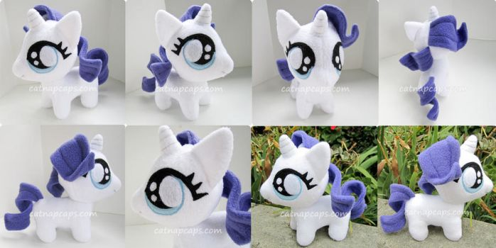 Chibi Baby Rarity Fan Art Plush by CatNapCaps