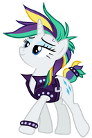 Rarity in a new punk-style outfit by Tardifice