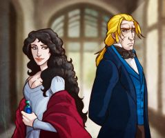 Grace and William for InkyRose! by saylem