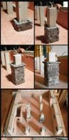 Domus project 12: Stone pillars by Wernerio