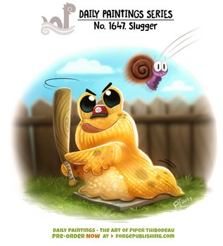 Daily Painting 1647# - Slugger by Cryptid-Creations
