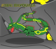 Day #5 - Rayquaza by TheSaure55