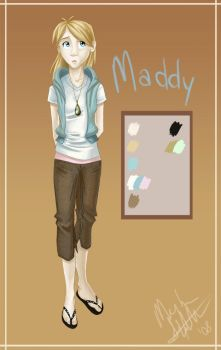 Ref Sheet: Maddy by nooby-banana