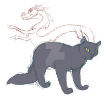 Yellowfang and Mulan (Mushu) by katzendiosa