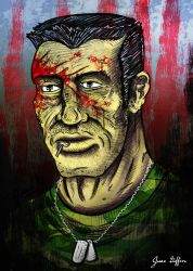 Punisher Born - Mixed Media Digital Painting by JesseGiffin