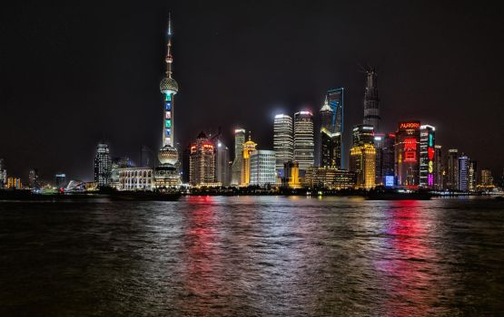 Bright Lights at Pudong, Shanghai by astra888