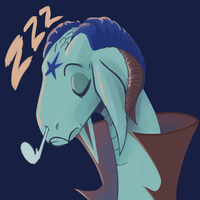 Daily Doodle: Sleepy Dragon by CountDraggula