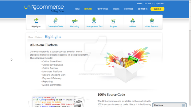 Uniecommerce features by uniecommerce